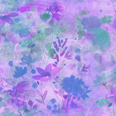 Good Vibes -  Purple Floral
