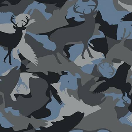 Wild Life Flannel Y3138-119 Camo Blue