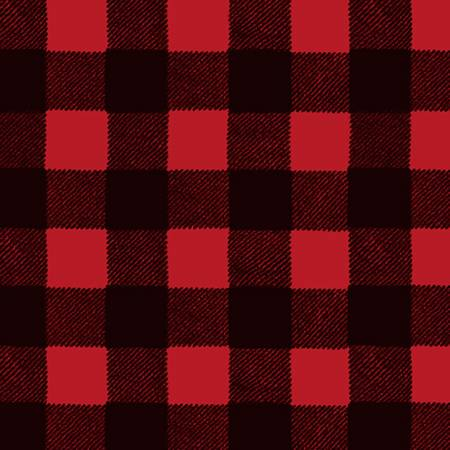 Wild Life Flannel Y3139-80 Buffalo Plaid Red