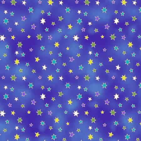 Celestial Magic - Dark Blue Stars