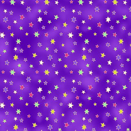 Dark Eggplant Stars