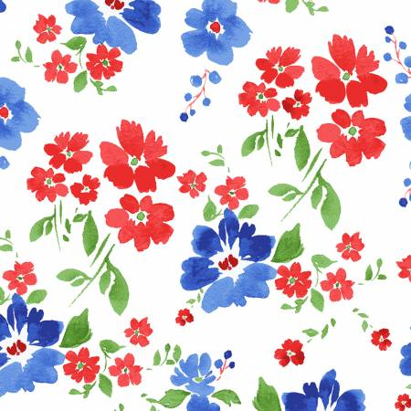 America the Beautiful White Floral