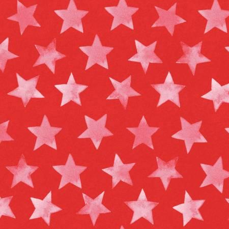 America the Beautiful Light Red Flag Stars