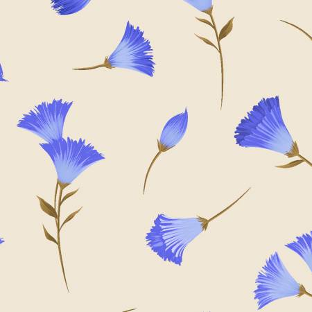 Y3231-11 Clothworks Canto Light Khaki Flower Buds