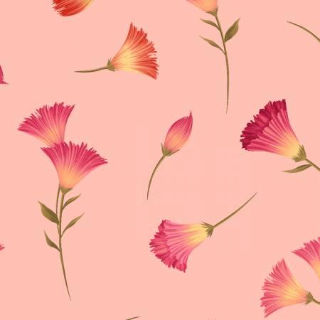 Y3231-38 Clothworks Canto Light Coral Flower Buds