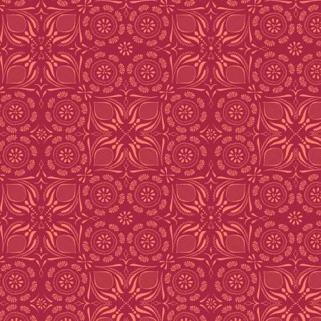 Y3232-4 Clothworks Canto Light Red Tile