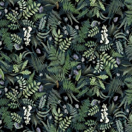 Botanical Journal Black Ferns Digitally Printed