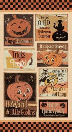Retro Halloween Panel 24in