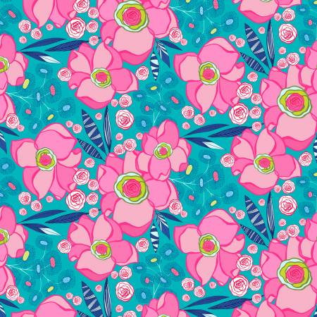 Josie Jean - Aqua Main Floral