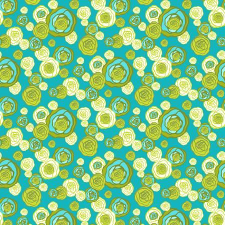 Josie Jean - Lime Micro Floral