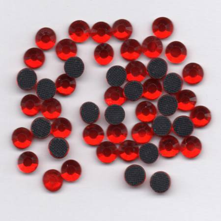 Hotfix Iron On Rhinestones Glass Crystals Light Siam Red Size 5mm ss20
