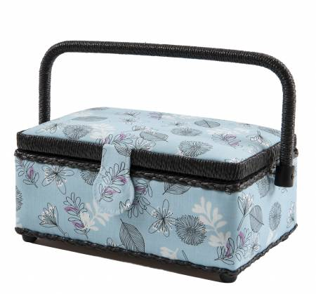 Sew Basket Small Rectrangle Blue Floral