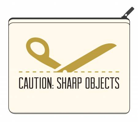 Riley Blake Designs Canvas Zipper Bag Large Sharp Objects