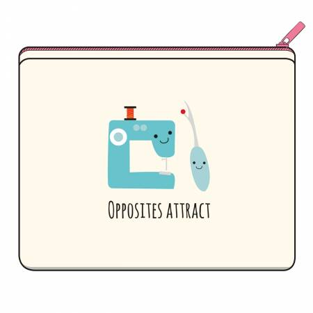 Opposites Attract Canvas Small Zipper Bag