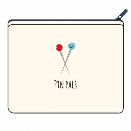 Pin Pals Canvas Small Zipper Bag