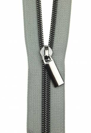 Zippers By The Yard Grey Tape Gunmetal Teeth #5