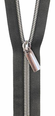 Zippers By The Yard Black Tape Gunmetal Teeth #5