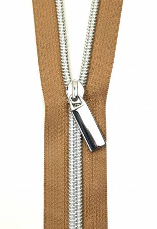 Zippers By The Yard Natural Tape Nickel Teeth #5