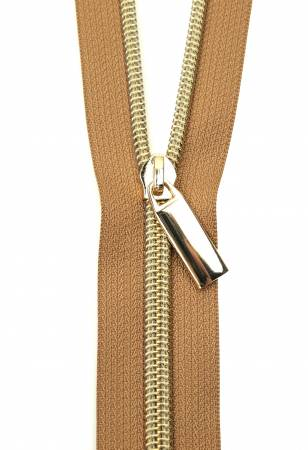 3 Yards Zipper - Natural Tape and Gold
