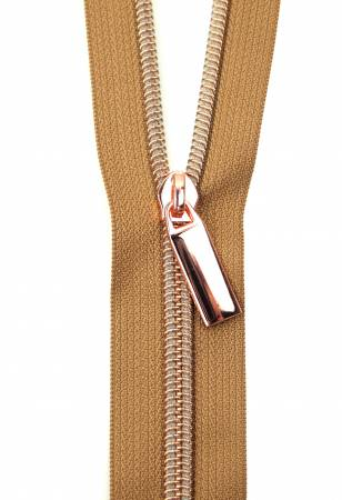Zippers By The Yard Natural Tape Rose Gold Teeth #5