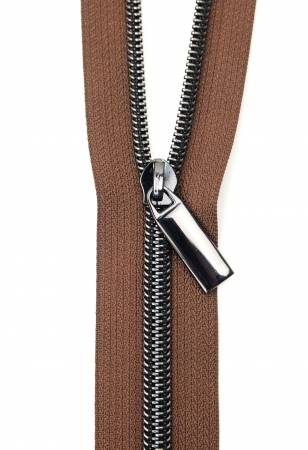 3 Yards Zipper - Brown Tape - Black