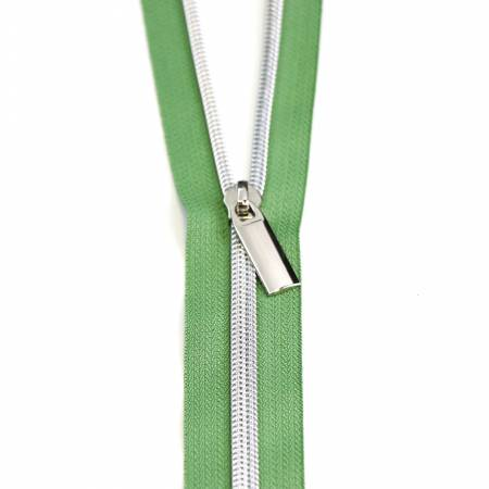 **5 Zippers by the Yard Magnolia Nickel