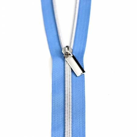 **Zippers by the Yard Blue Jean Nickel