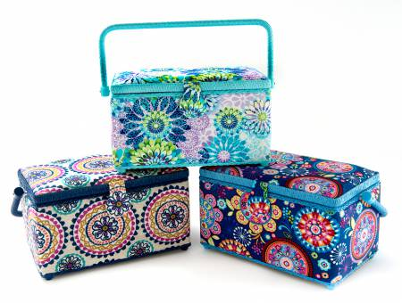 Sewing Baskets Assorted Styles Medium Rectangle 3pc Set