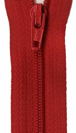 YKK Coil Zipper 9in Red