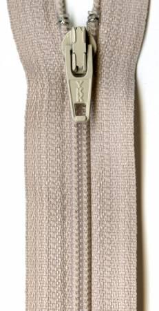 Ziplon Coil Zipper 16in Bone