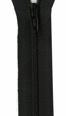 Ziplon Coil Zipper 18in Black