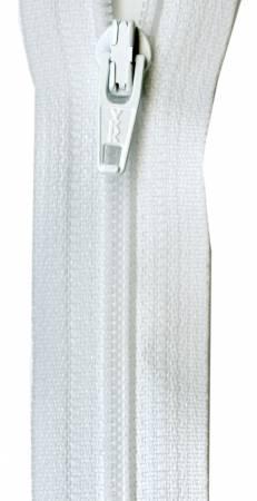 Ziplon Coil Zipper 22in - White