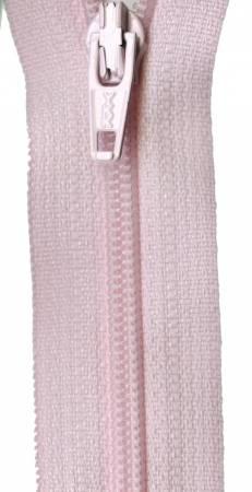 Pink Coil Zipper 22in