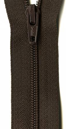 Ziplon Coil Zipper 22in Sable