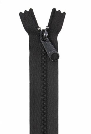 24 inch Handbag Zipper - Black