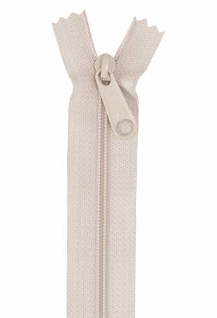 Handbag Zipper 24in Natural