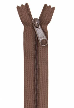 Handbag Single Slide Zipper 24 Seal Brown