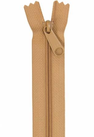 Handbag Zipper 24in Golden Brown