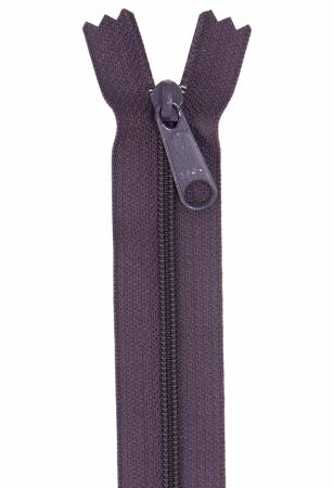 By Annie - Non Separating Handbag Zipper - 24in/61cm  - Eggplant