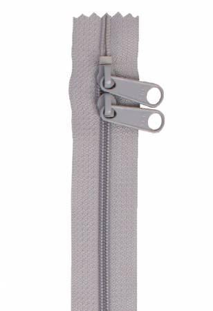 *ByAnnie Double Slide Handbag Zipper 30in Pewter