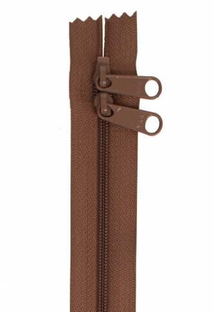 Handbag Zipper 30in Double-Slide Seal Brown