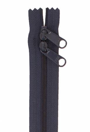 Handbag Zipper 30in Navy Double Slide