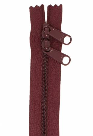 *ByAnnie Double Slide Handbag Zipper 30in Cranberry