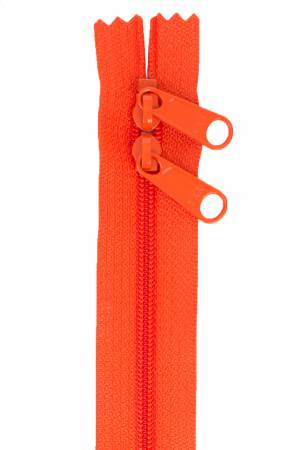 Handbag Zipper 30in Tangerine