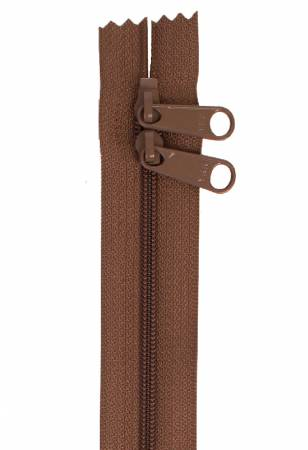 Handbag Zipper 40in Seal Brown