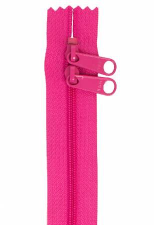 40 Double-Slide Handbag Zipper/Raspberry (ByAnnie)