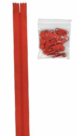 Zipper by the Yard - Tangerine