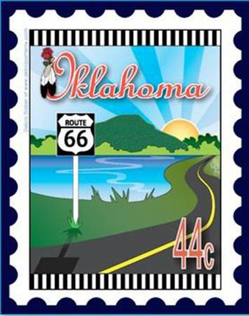 State Stamp Mini Fabric Panel Oklahoma