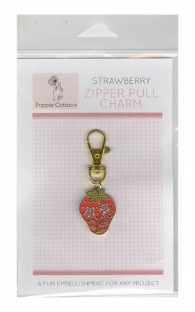 Zipper Pull Charm Strawberry