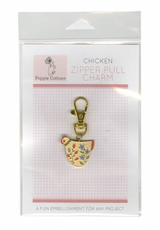 Zippper Pull Charm Chicken